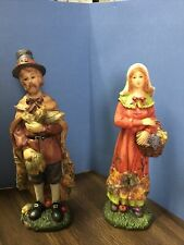 Mr & Mrs Pilgrim Figures Thanksgiving Table Decoration Fall Autumn Fall Harvest