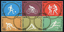 LIBYA, Sc #263a, MNH, 1964, Imperf., block of six, Olympics, CL038F