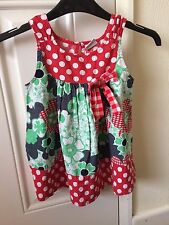 Girls Next Dress Floral/Spotty Multi-Coloured Age 6 Years B15