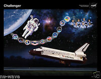 Large 11x14 Tribute to Space Shuttle Challenger - Beautiful Glossy Print