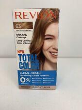 Revlon Total Color Hair Dye 63 Light Golden Brown 100% Coverage + Clean + Vegan