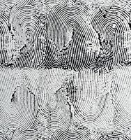 Thumb Print Black & White Alexander Henry Cotton Quilt Fabric 8338 B Black