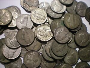 1942 TO 1945 SILVER  JEFFERSON NICKEL  LOT / 75 COINS