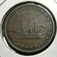 1843 NEW BRUNSWICK CANADA 1/2 PENNY TOKEN