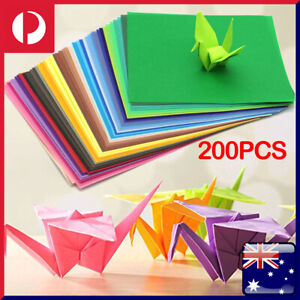 200 Sheets Mixed Colours Origami Square Paper Craft Folding 15x15cm double Sided