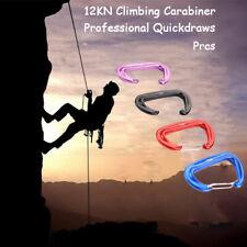 Climbing Carabiner Mountaineering Buckle Hook 12KN Safety Lock Outdoor Climb Y1