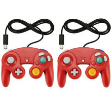 2PK RED GameCube Controller Remote For Nintendo Wii GameCube And Wii Brand New