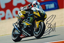 Ben Spies Signed 8X12 inches 2010 Yamaha Tech 3 Photo