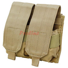 Molle Tactical 7.62 NATO 308 Rifle Double Magazine Mag Pouch Close Flap -TAN
