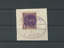 Lokal Fredersdorf F 224 auf Briefstück (B02306)