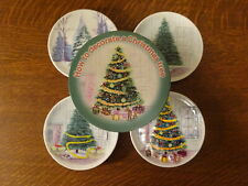 New listing MWW Market HOW TO DECORATE A CHRISTMAS TREE Mini Plate Set of 4 in Orig Box!