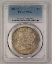 1885-O US Morgan Silver Dollar $1 Coin PCGS MS-62 Toned (17)