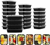 28oz Disposable Food Container Meal Prep BPA Free Microwavable Plastic Lunch Box