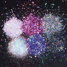 6X hexagonal Holográfico uñas Brillos Y Lentejuelas Brillante Copos Uñas Manicura Puntas