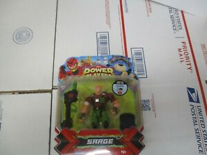 PLAYMATES ZAG HEROEZ POWER PLAYERS SARGE ACTION FIGURE NEW FAST / FREE SHIPPING