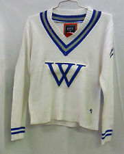 Wellesley College COLLEGIATE SWEATER WHITE/BLUE/GRAY SIZE XL