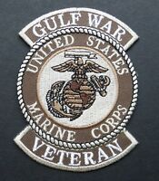 USMC MARINES DESERT STORM GULF WAR VETERAN EMBROIDERED PATCH 3 INCHES