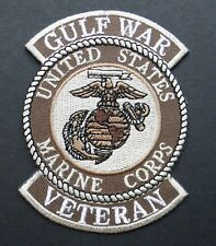 USMC MARINES DESERT STORM GULF WAR VETERAN EMBROIDERED PATCH 3 INCHES