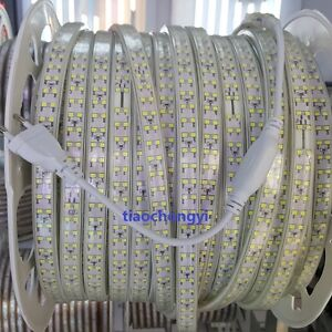 1-10M 220V 2835 Warm White Double Row LED Strip Rope Light Lamps 180LED/M +Plug