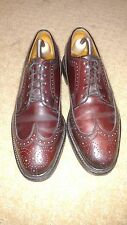 Florsheim Imperial 9.5c burgundy shell cordovan 5 nail V cleat longwing