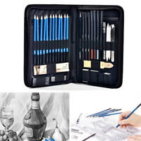 40Pcs Professional Drawing Sketching Pencil kit Charcoal Art Painting Sketch