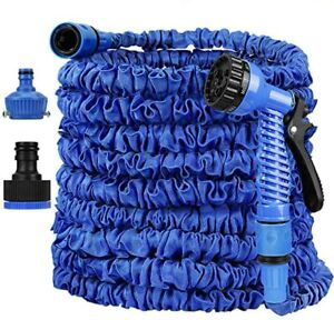 Garden Hose Pipe 30M 50M Expandable Stretch With Spray Gun Lightweight Universal