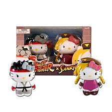 Sanrio Hello Kitty Street Fighter Ryu & Cammy 2-Pack PVC Figures - Toynami