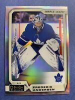 2018-19 OPC Platinum Rainbow Base #127 Frederik Andersen Toronto Maple Leafs