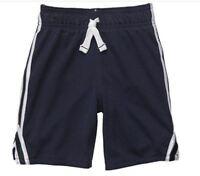 Carter's Boys Kids Mesh Pull-on Gym Shorts, Navy Blue