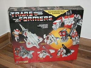 Boxed Transformers G1 Aerialbots / Superion, Vintage 1980s