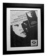 MEAT LOAF+Midnight Lost+POSTER+AD+RARE+ORIGINAL 1983+FRAMED+EXPRESS GLOBAL SHIP