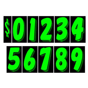 Car Dealer Windshield Stickers 11 Dozen Pricing Numbers 7.5 Inch Dealership Tags