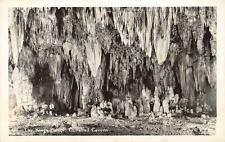 RPPC People In The King's Palace, Carlsbad Cavern, New Mexico Postcard ca 1930s