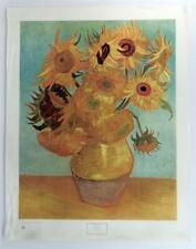 Vintage VINCENT VAN GOGH Sunflowers Floral Print still life Lithograph #Z289
