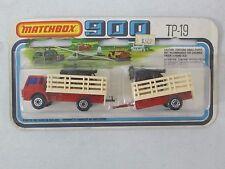 Vintage Matchbox 900 TP-19  Cattle Truck w/ Trailer