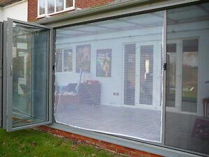 Fly Screen Bi Fold Patio Wide Span White 244 x 210cm (WxH)