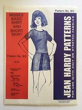 Vintage Jean Hardy Sewing Pattern 80 Misses Basic Shirt & Short Skirt Uncut 6-16