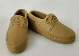Barbie Doll Boy Tan moccasin shoes rubber