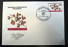 MADAGASCAR  AERIEN 186    PREMIER JOUR FDC     FLORE GRAMMANGIS    50 FMG   1984