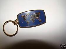 Anson Mfg Blue Enamel with Gold Atlas Key Chain