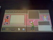 "Disney Peter Pan 12""x12"" Scrapbook Layout 2 Pages w/ Tinkerbell & Captain Hook"