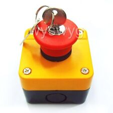Emergency STOP Push button switch with Key Weatherproof a part of Access control
