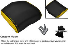 YELLOW & BLACK 08-12 CUSTOM FITS YAMAHA 600 YZF R6 REAR SEAT COWL PAD COVER
