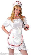 Donna 5 Pezzi Infermiera Sexy Uniforme + Stetoscopio Job Costume Vestito