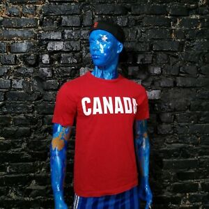 Canada Team Fan Jersey Olympic Games Shirt Red Official Product Cotton Mens SZ S