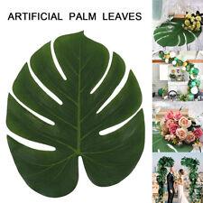 12X hojas de palma artificiales hojas de seda plástica deja decoración del hogar