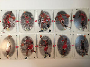 1998-99 SP Authentic Set #1-10 Michael Jordan  Bulls NM-MT
