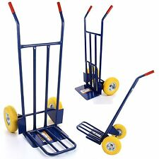 600LB Warehouse Industrial Sack Truck Heavy Duty Hand Trolley Inflatable tyre