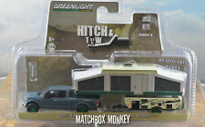 Greenlight Green Machine 2015 Ford F-150 Hitch & Tow Popup Camper Trailer Chase