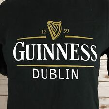 Guinness Beer Dublin Black T-Shirt Men's Small C5
